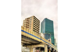 Elevated road in Tokyo city centre