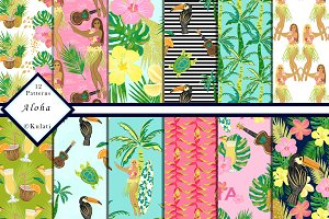 Hawaii Digital Papers / Patterns