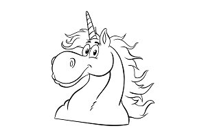 Black And White Magic Unicorn