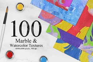 Bright Marble&Watercolor Backgrounds