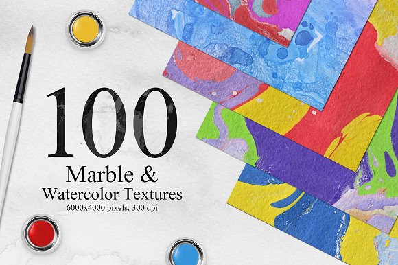 Bright Marble Watercolor Backgrounds