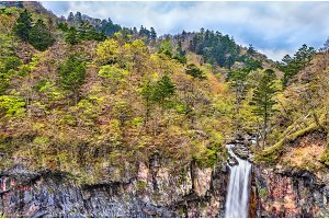 Kegon Falls, one of highest waterfalls in Japan
