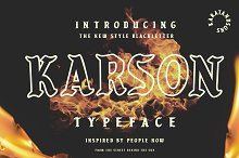 KARSON BLACKLETTER by Karat and Sons in Blackletter Fonts
