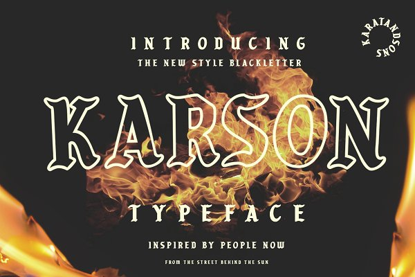 Blackletter Fonts: Karat & Sons - KARSON BLACKLETTER