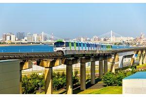 Tokyo Monorail line at Haneda International Airport
