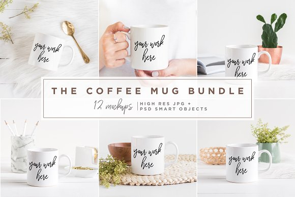 The Coffee Mug Bundle 12 Mockups