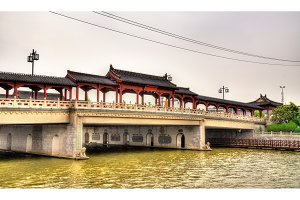 Traditional-style bridge in Suzhou