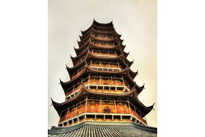 The Beisi Pagoda at Bao'en Temple in Suzhou, China