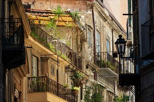 Old Palermo city view, Sicily, Italy