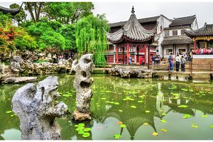 The Lion Grove Garden, a UNESCO heritage site in China