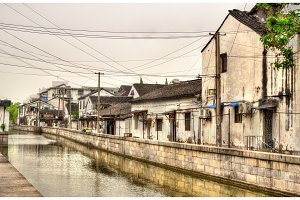 Suzhou old town canals and houses