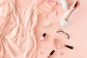 Pink fashion concept