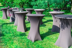 Set of banquet table
