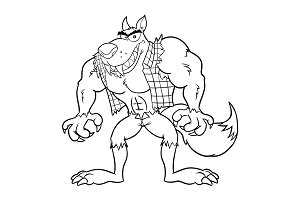 Black And White Angry Werewolf