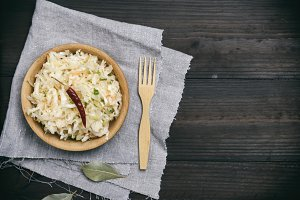 salad of white cabbage, carrots