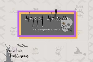Halloween lettering Bundle