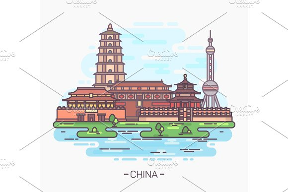 China Monuments Or Landmarks Buildings