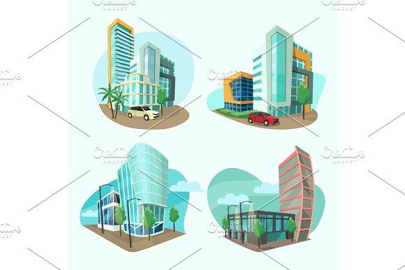 Set Of Cityscape Icons