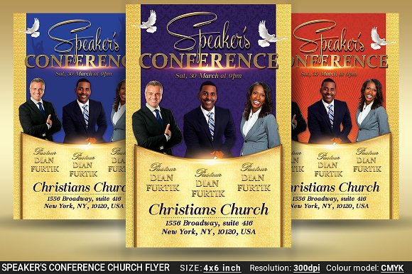 Speaker's Conference Church Flyer