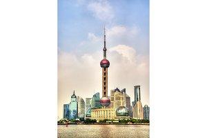 Shanghai skyline above the Huangpu River
