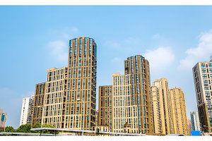 China apartment buildings in Shanghai