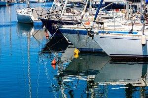 Palermo city yacht port, Sicily