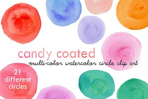 Candy Coated Colorful Circle Clipart