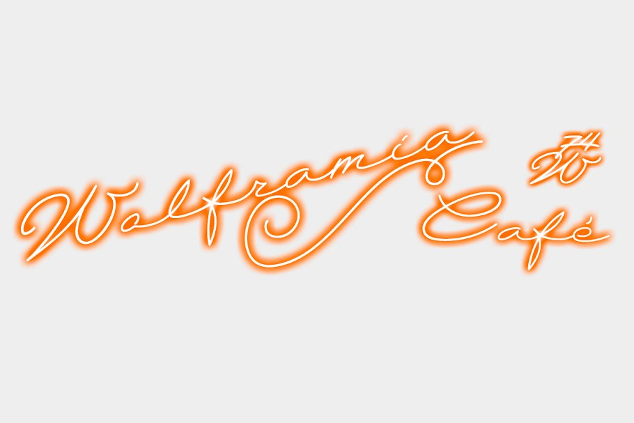 Best Wolframia font Vector