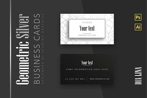 Geometric-Silver Business Card