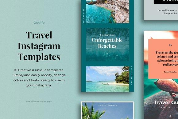 Outlife Travel Instagram Templates