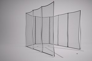 Track & Field Discus Throw Cage