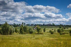 Rural landscape Sunny day