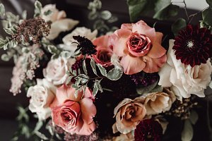 Moody Floral Autumn Wedding Flowers