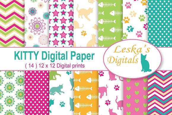 Kitty Cat Digital Scrapbook Paper
