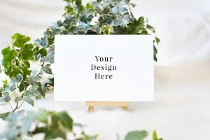 4x6 Ivy & Easel Styled Card Mockup