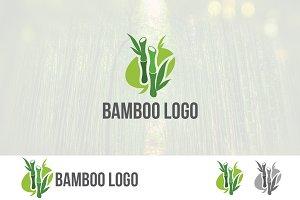 Green Bamboo Tree Logo