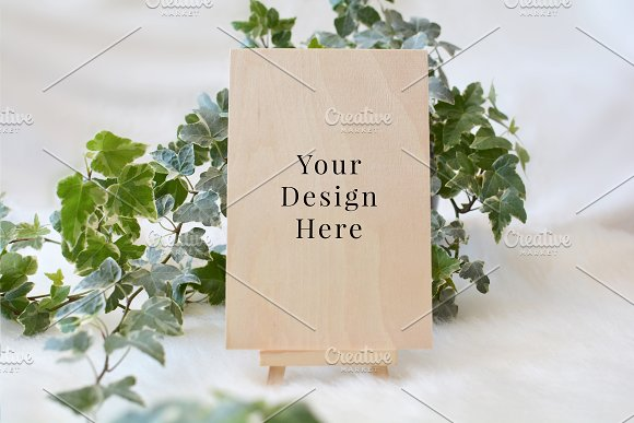 4x6 Ivy Wood Card Styled Mockup