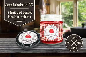 Jam labels design template vol.2