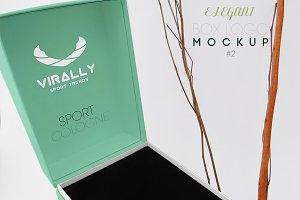 Elegant Box Logo Mockup 2