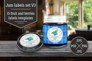Jam labels design template vol.3