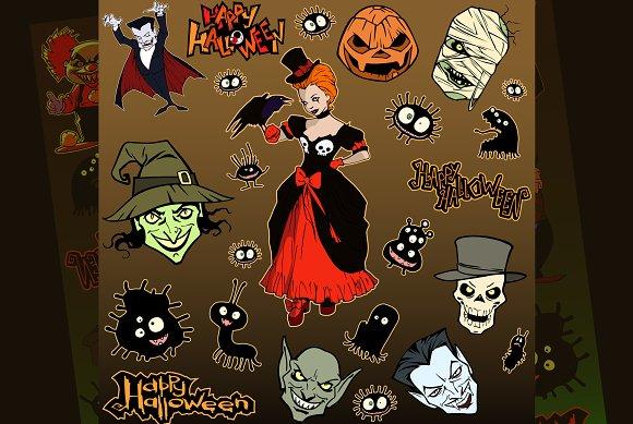5 Vector Halloween Sets