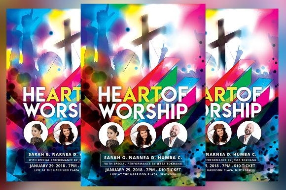 Heart Of Worship Church Event Flyer
