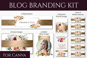 Blog Branding Kit - Fresh Flowers