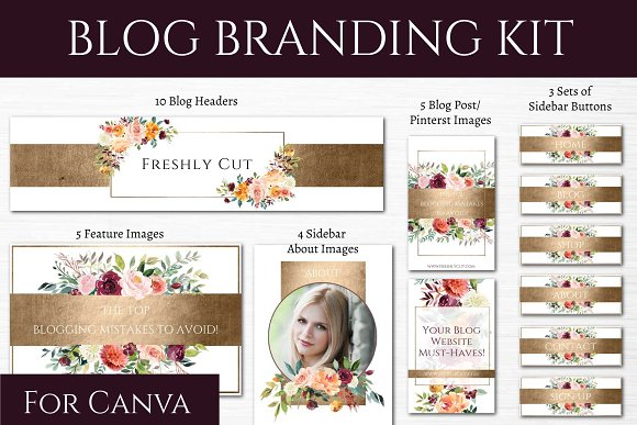 Blog Branding Kit Fresh Flowers