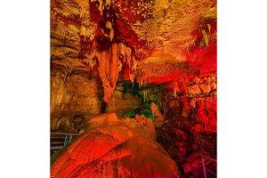 Heart-shaped stone in Sataplia Cave