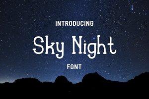 Sky Night Font