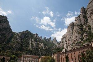 Montserrat mountains in Barcelona