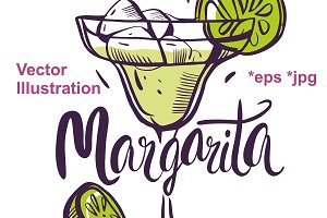 Margarita vector illustration