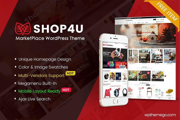 Shop4U FREE MarketPlace WordPress