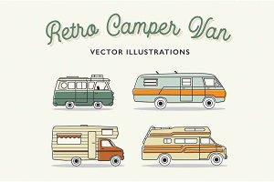 Retro Camper Vans